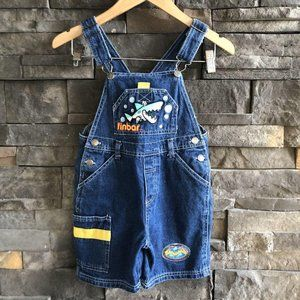 Denim Overall Shorts, Size 4T